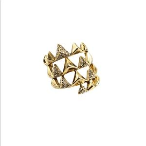 House of Harlow Pyramid Wrap Ring in Gold